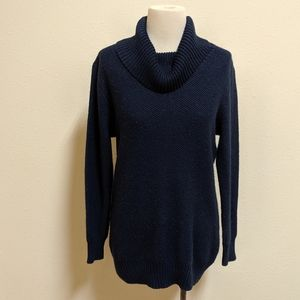 Apt.9 turtle neck sweater blue large with glitter